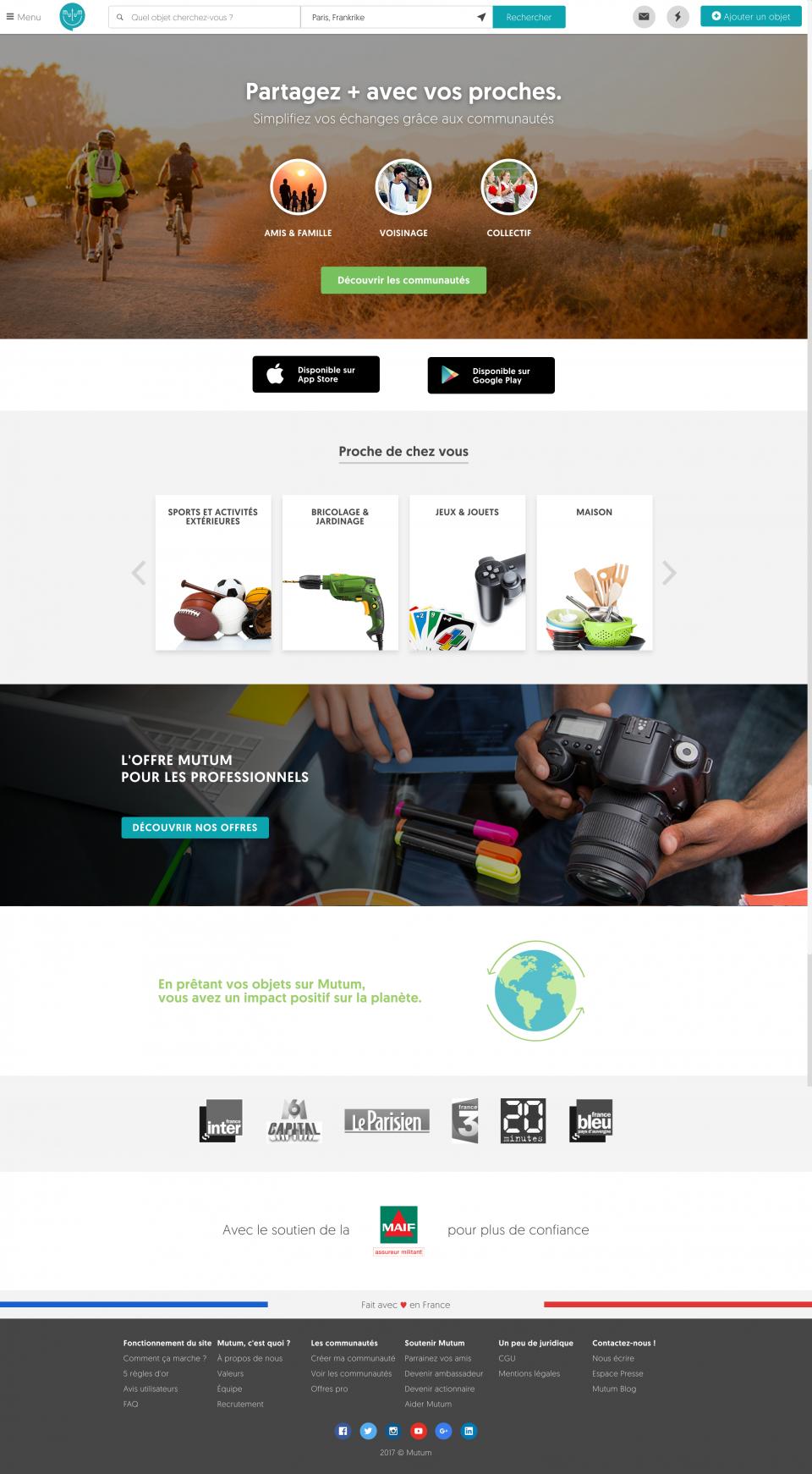 home page connécté