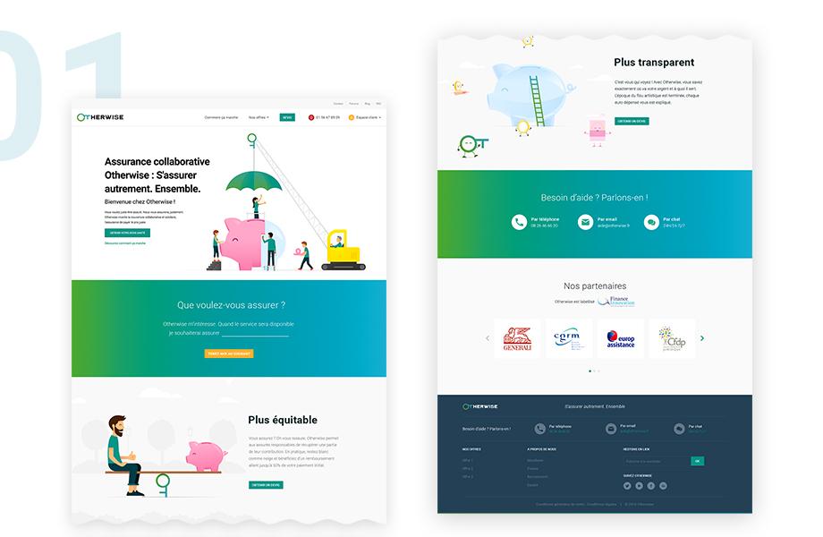 Présentation de la home page