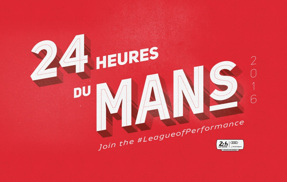 Typographie 24h du Mans au Audi City Paris