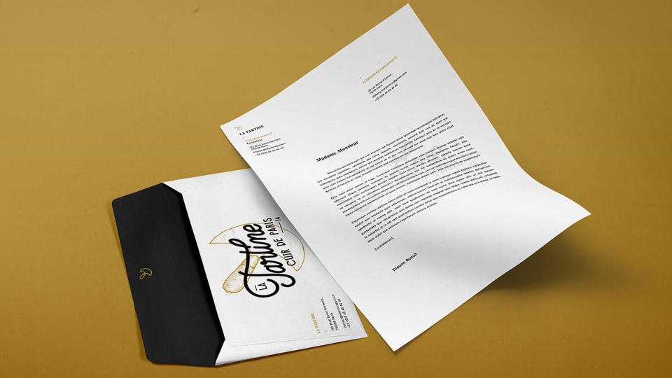 La Tartine - Papier en-tête & Enveloppe