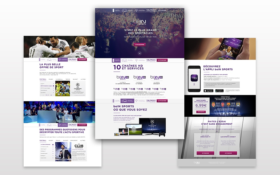 Landing page beIN SPORTS #2