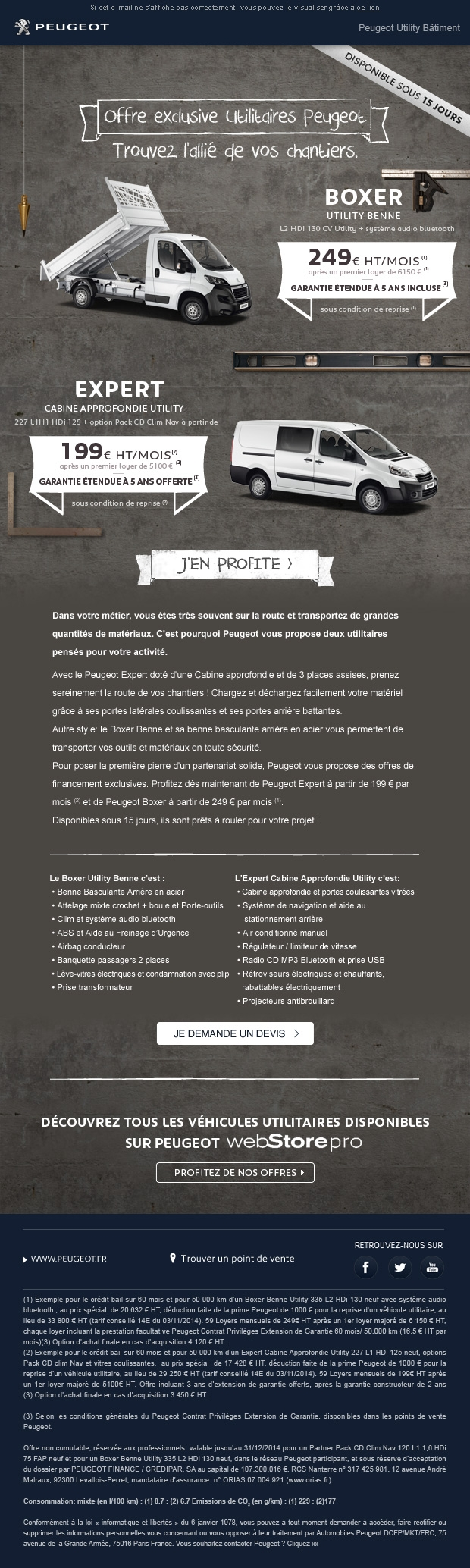 Emailing Peugeot