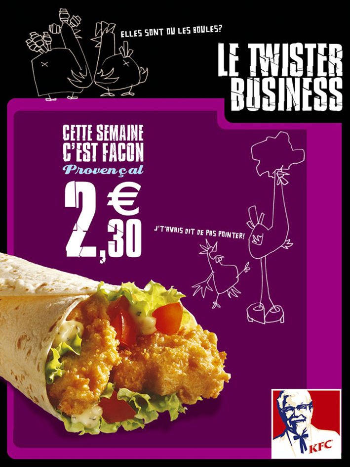 KFC / Campagnes 36O (Affichage, Out-store, In-store, Street Marketing...) / Axe 2