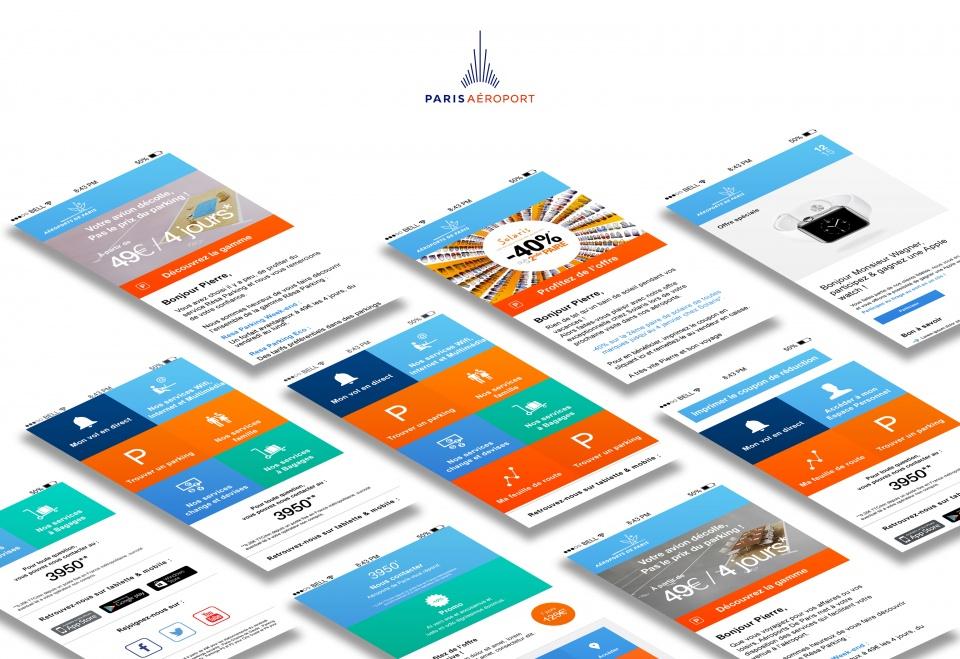Aéroports de Paris - Web Design
