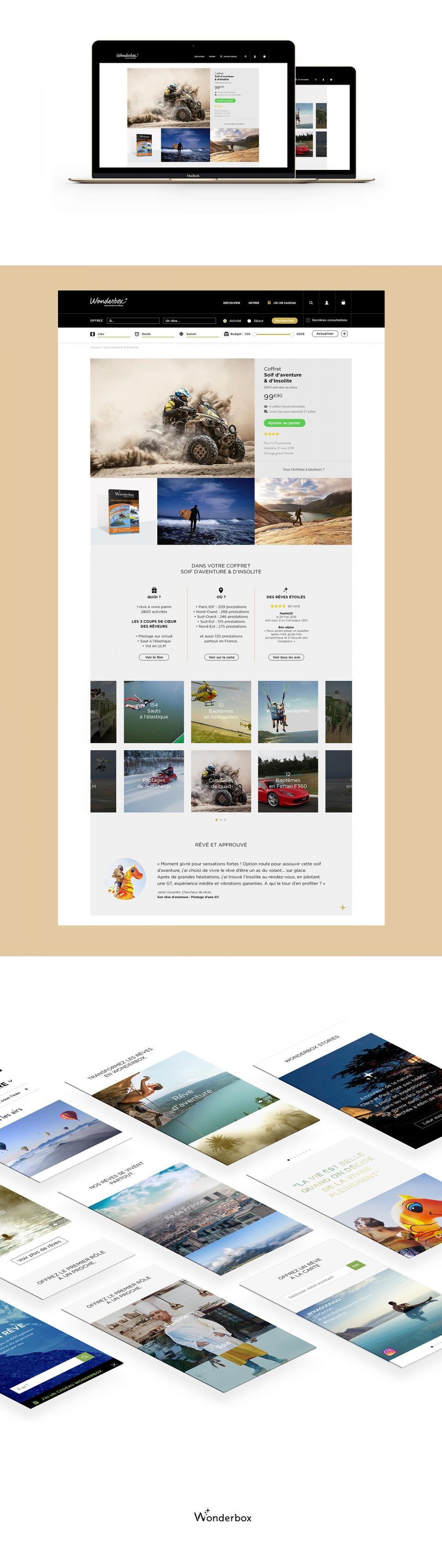 Wonderbox - Réalisateur de rêves -  UX/UI Design