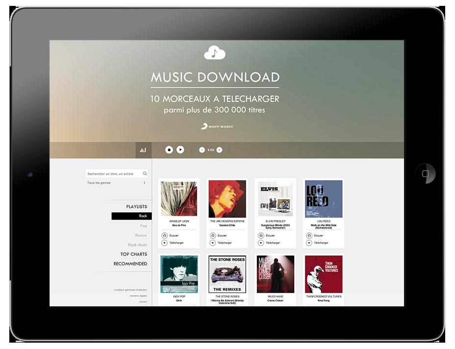Plateforme de téléchargement Sony Music