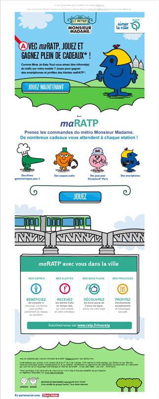 Emailing RATP