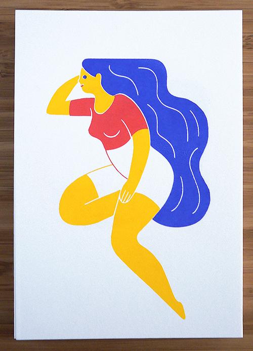 Nanas | Sérigraphies 3 couleurs format carte postale