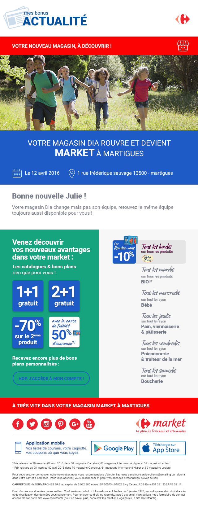 Carrefour emailing 2