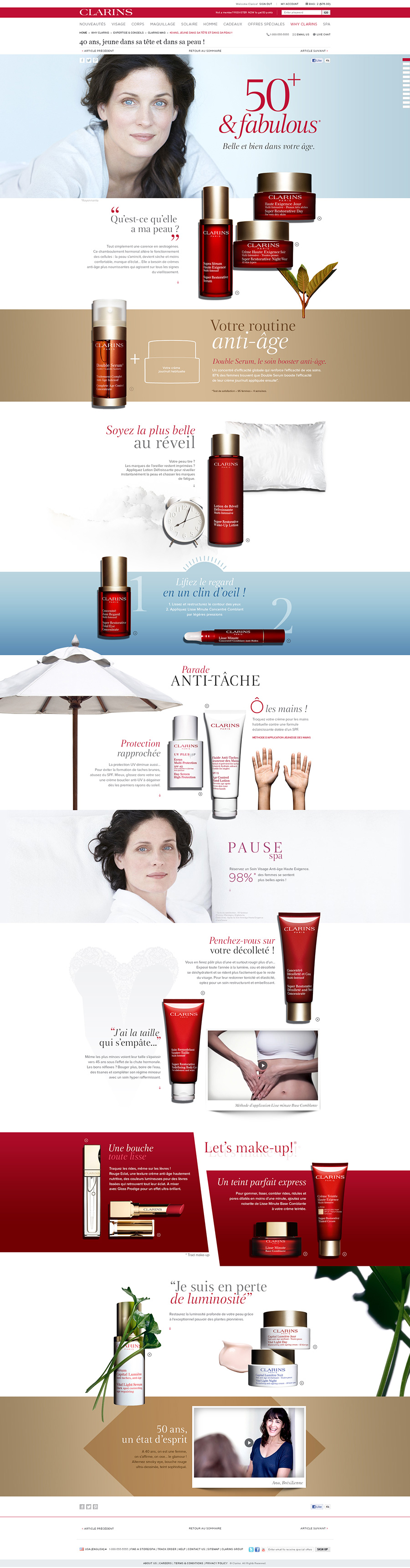 Clarins Mag 50 ans