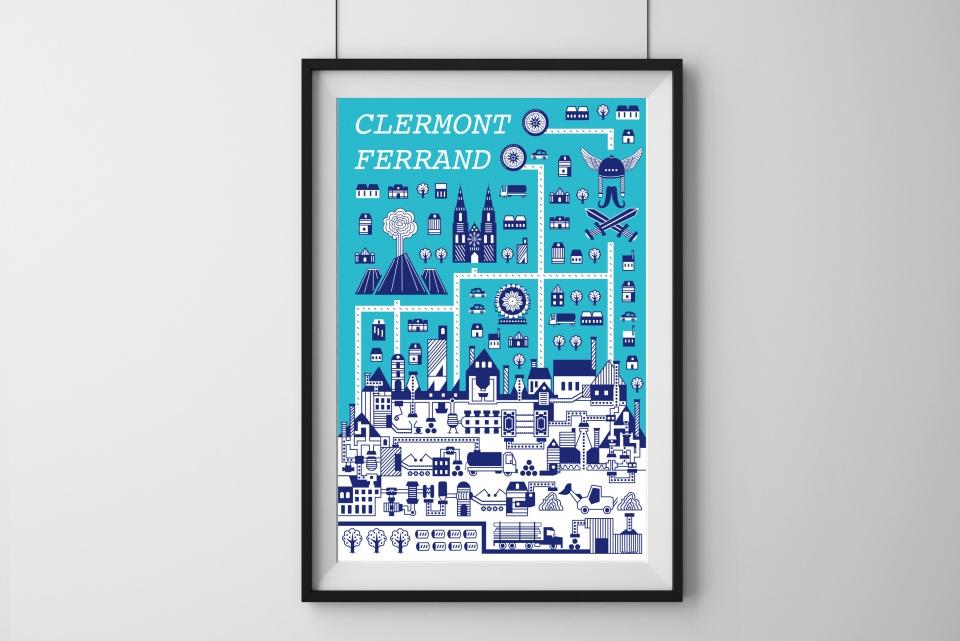 Affiche Clermont Ferrand