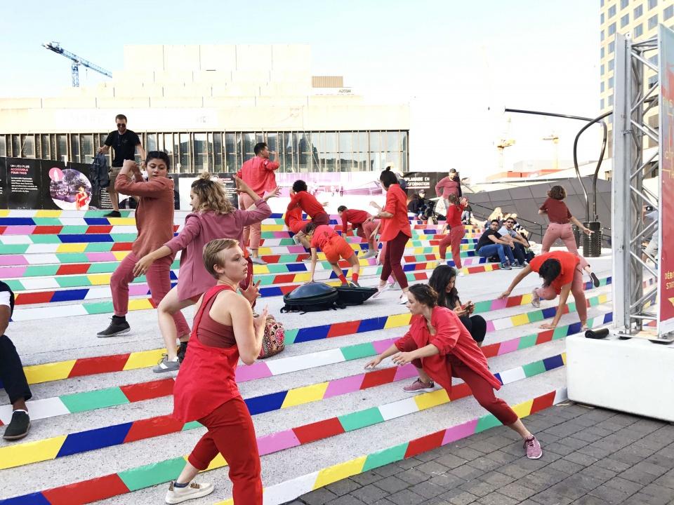 installation ludique - festival KM3 - Montréal