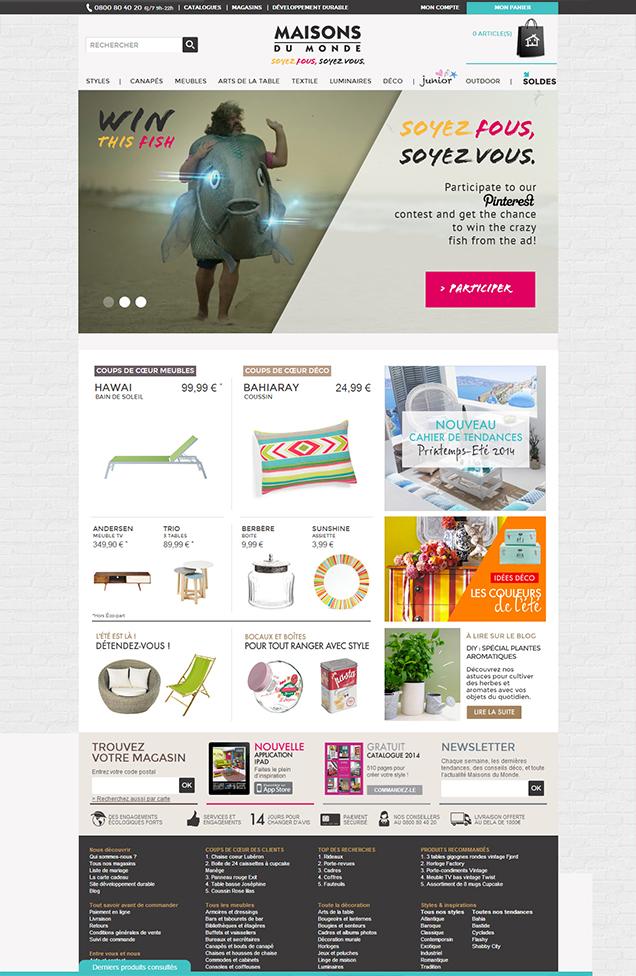 Maisons du Monde_Webdesign