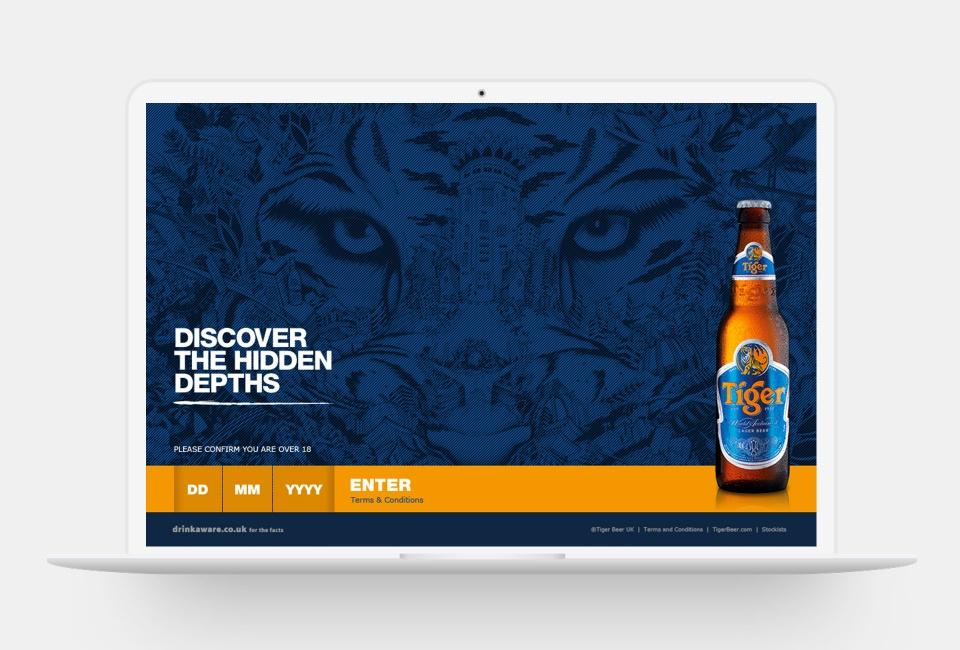 Tiger Beer Discover the Hidden Depths - Homepage