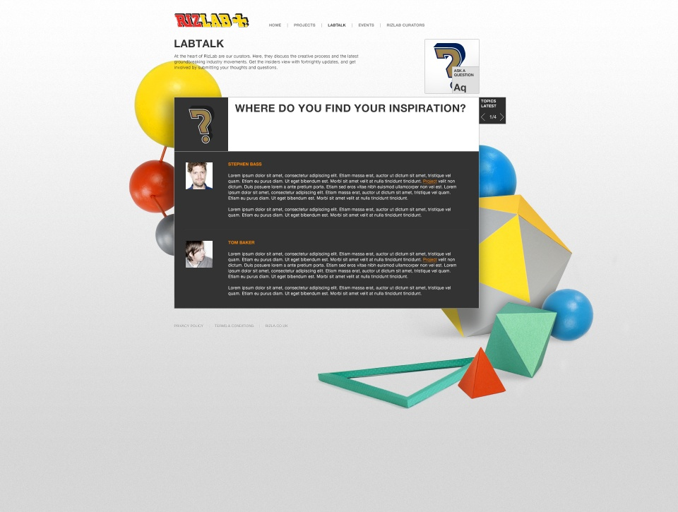 Rizlab website - conversations