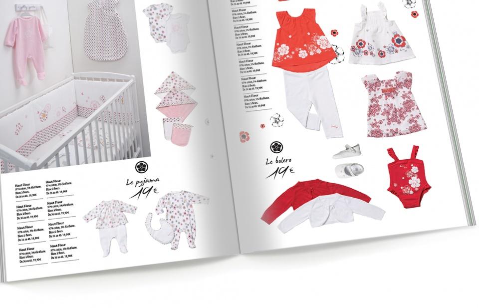 Intérieur double pages catalogue KENZO