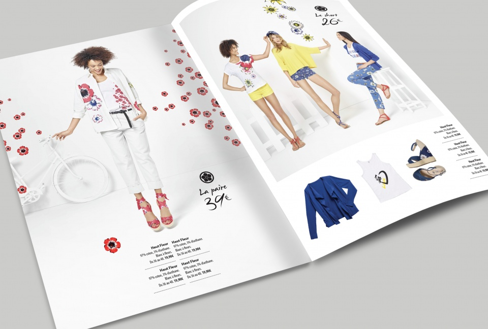 Double page catalogue Kenzo