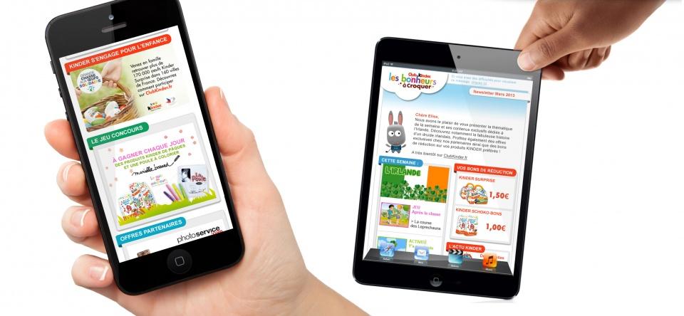 Habillage site mobile et tablette