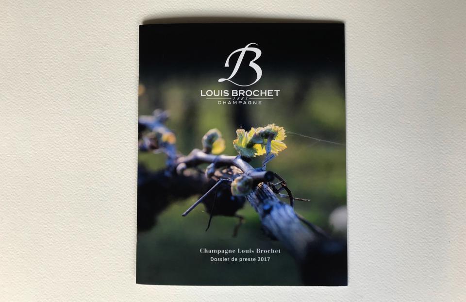Couverture Dossier de presse Champagne Louis Brochet