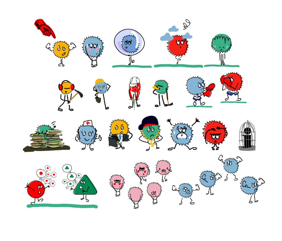 Vidéo Casium - Illustration des personnages