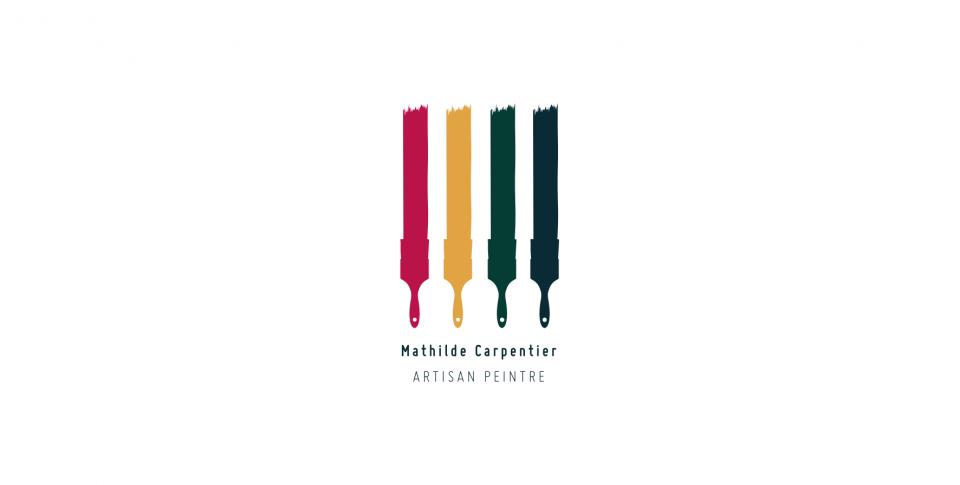 Logo Mathilde Carpentier. Artisan Peintre.