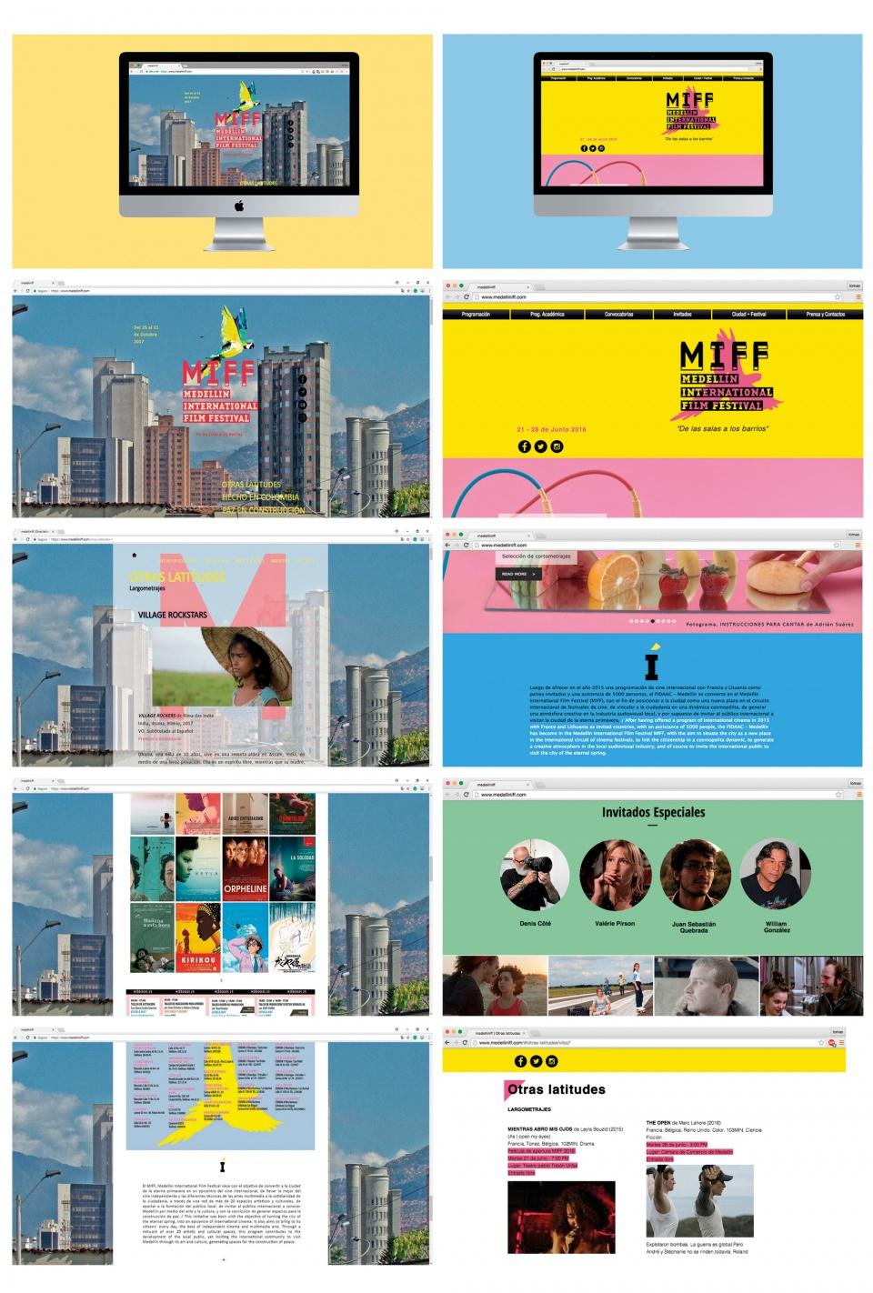 Site internet. Versions 2016 et 2017.