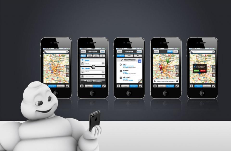 Design des écrans de l'application