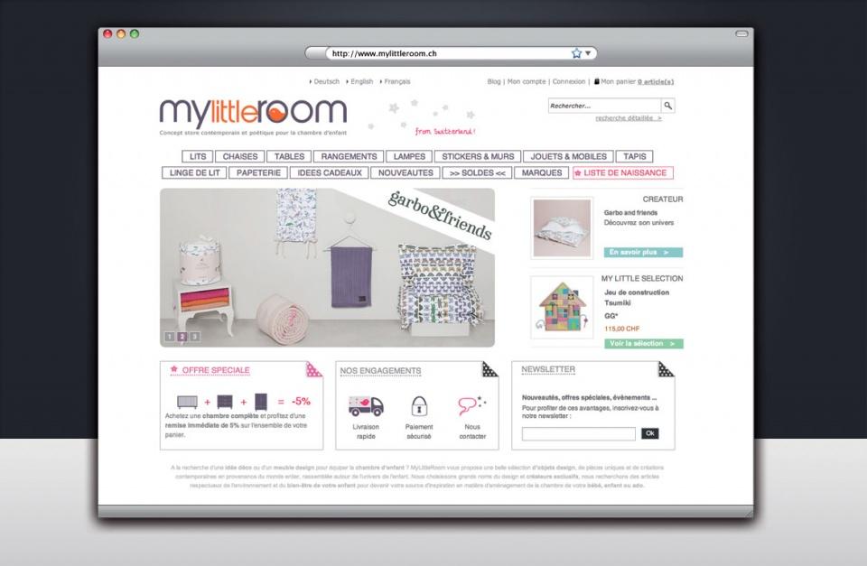 Direction artistique et UX design du site e-commerce