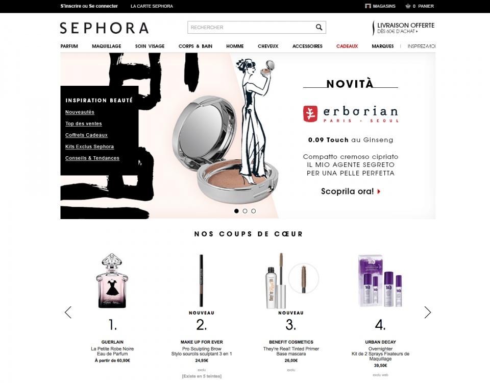 Cover pour le site desktop Sephora