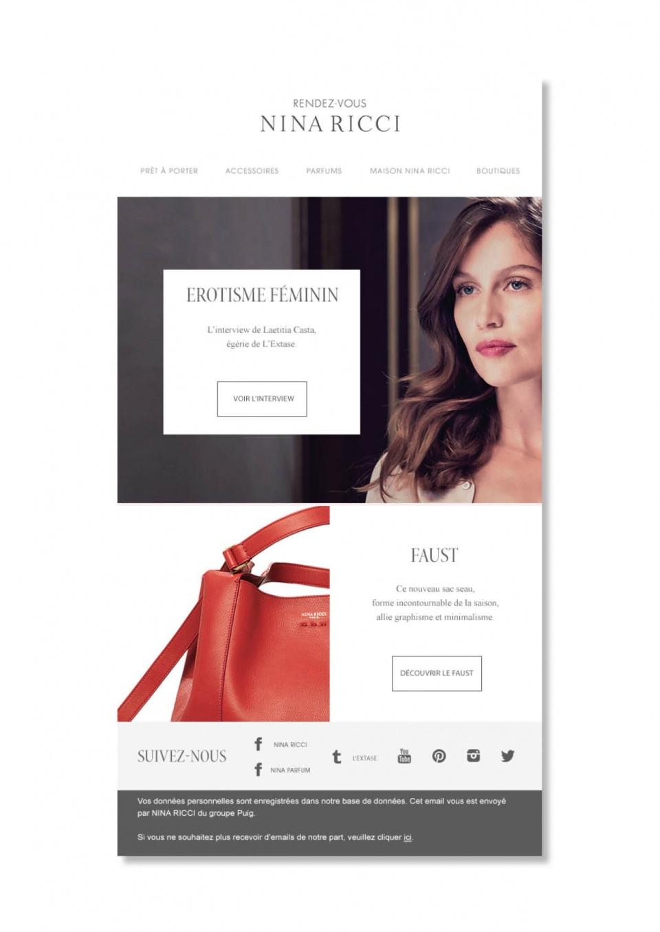 Nina Ricci - Newsletter