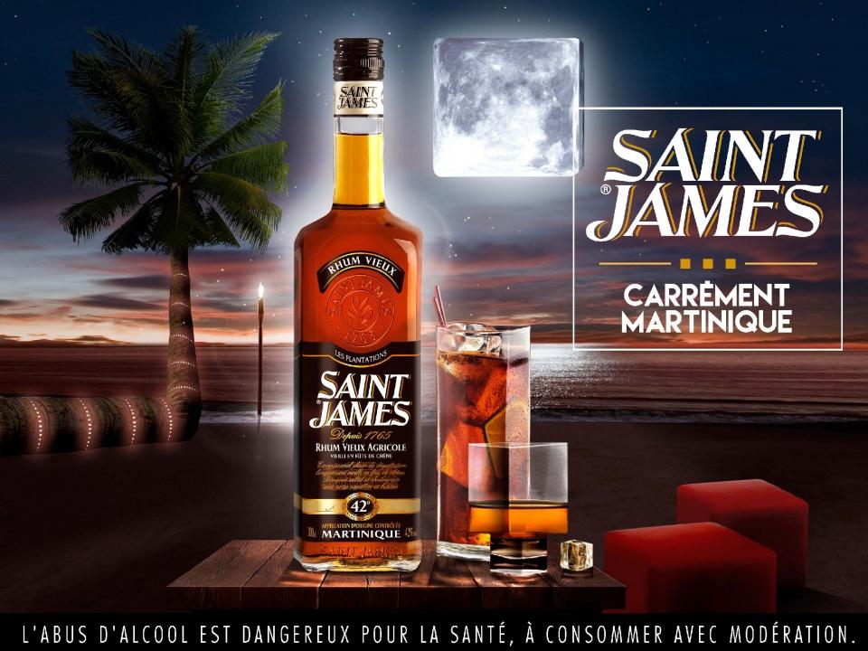 """ST JAMES - """"Carrément Martinique"""" - Version Rhum ambré"""