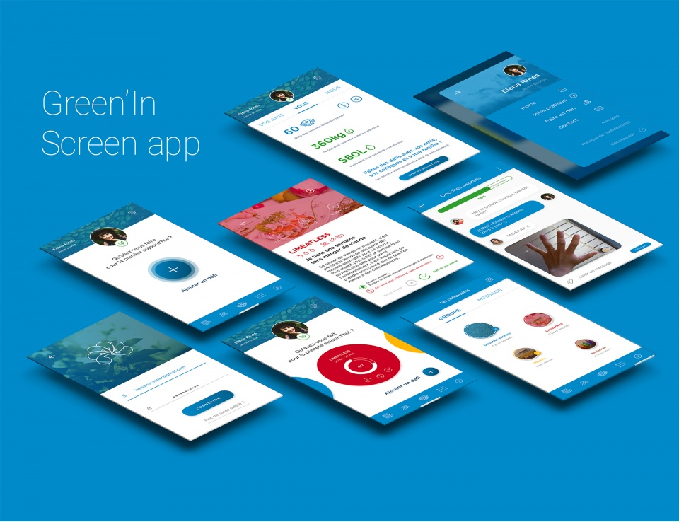 Green'In-App Screen