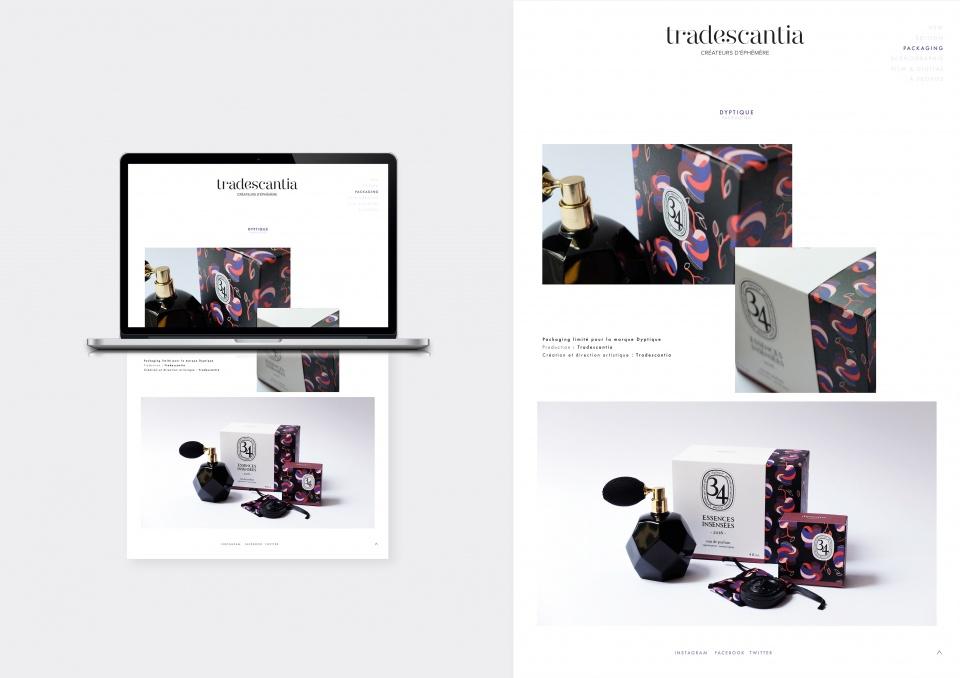 Page web Trandescantia