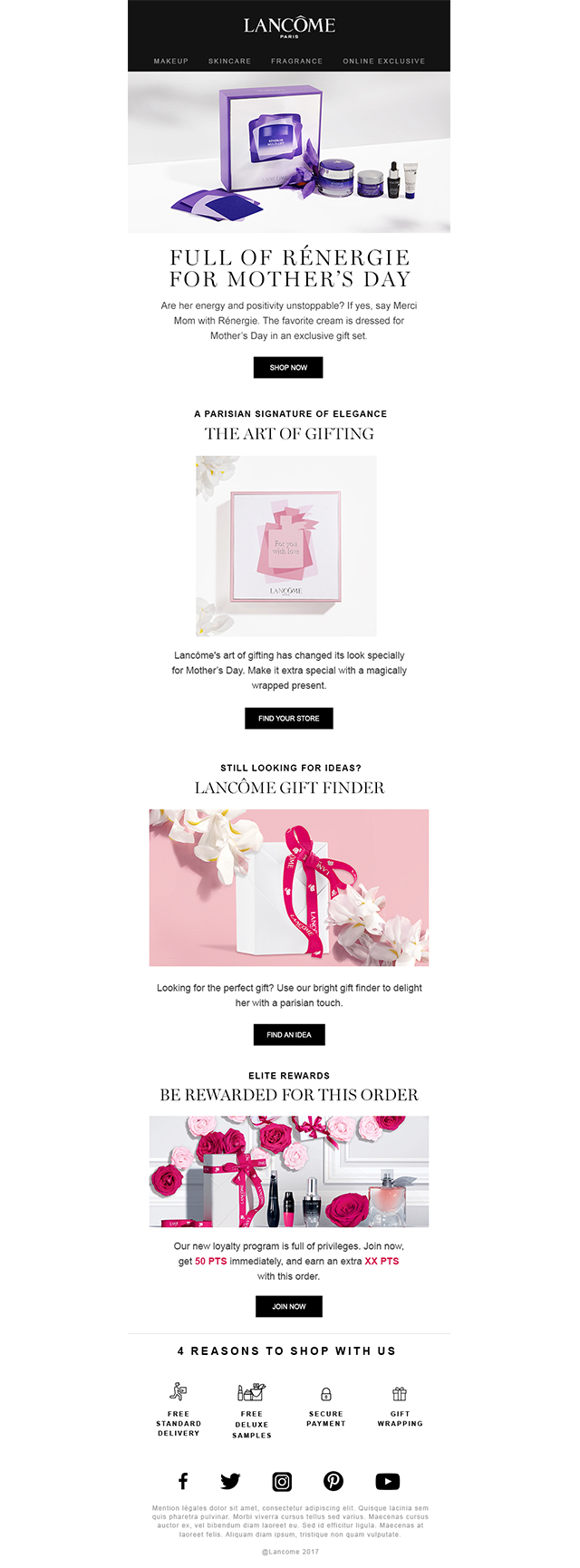 Newsletter lancement mother's day