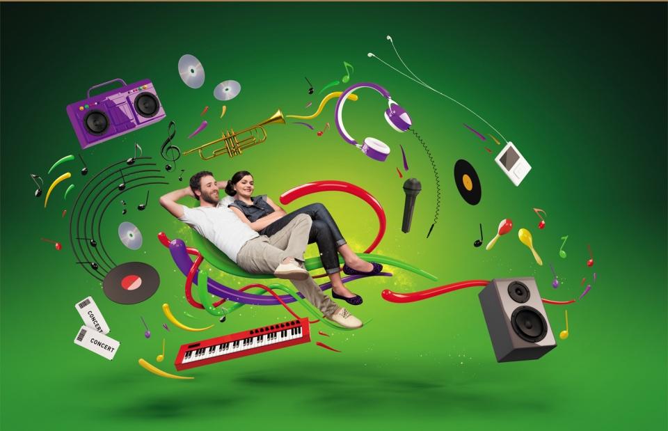 Visuel rayon musique