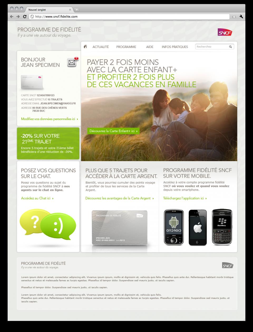 Site page carte standard