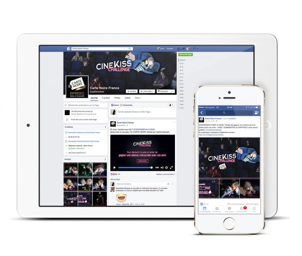 Opération #cinekisschallenge sur facebook