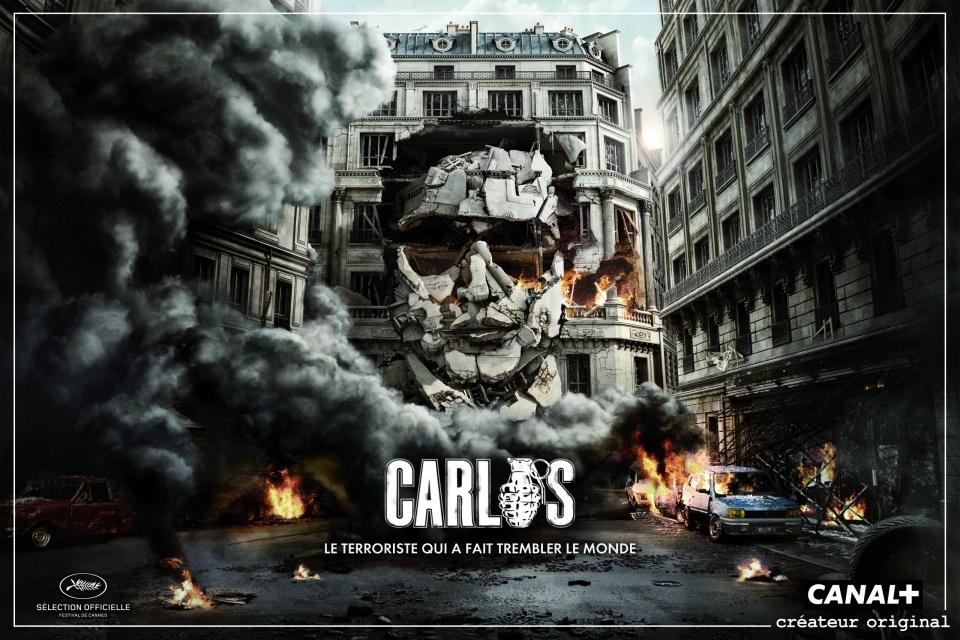 Affiche pub pour série TV Canal+ Carlos