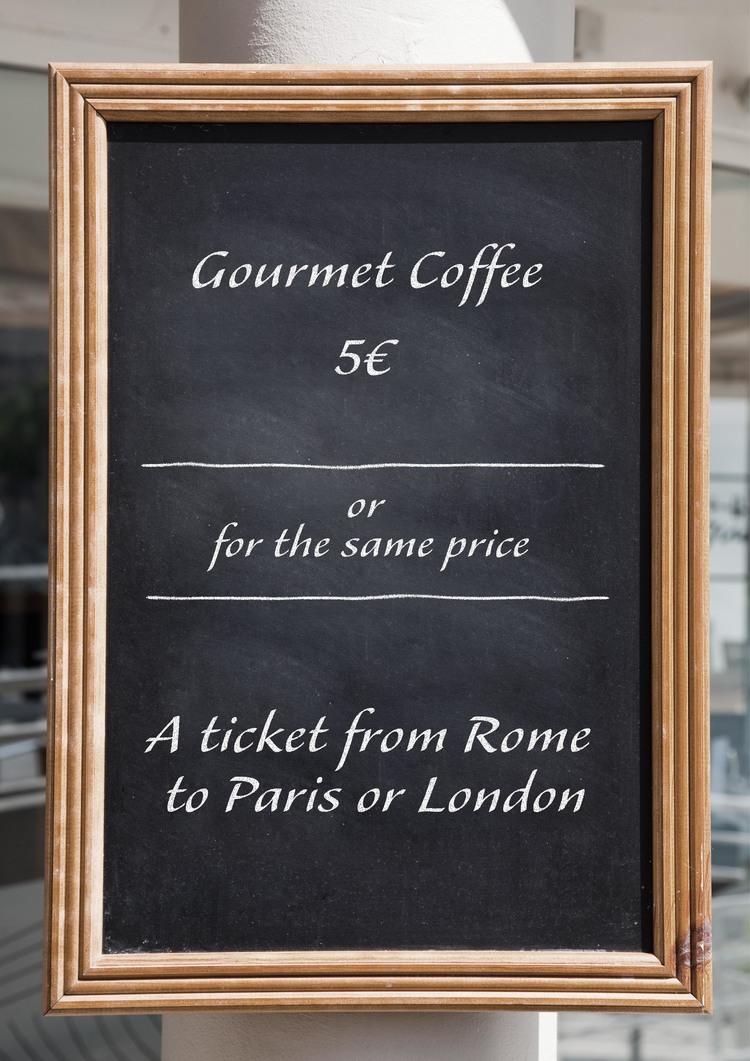 Promotion de l'offre dans les cafés