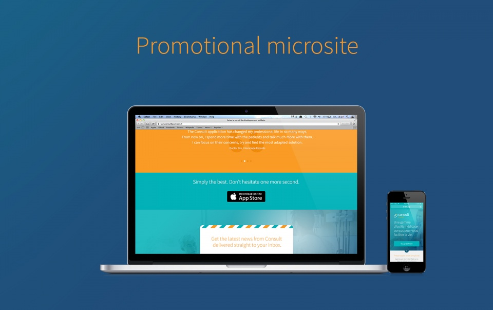 Promotional microsite
