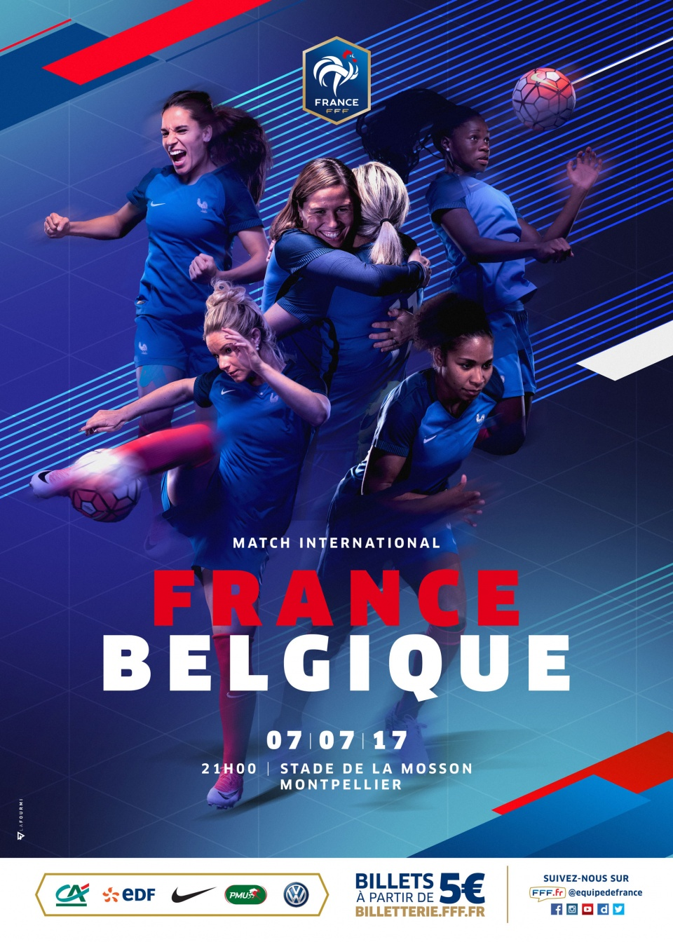 Keyvisual match d'ouverture France - Belgique