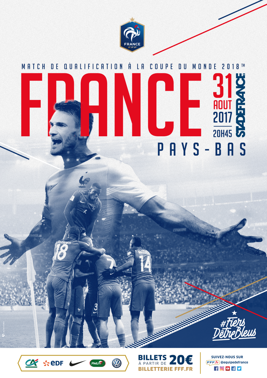 Keyvisual France vs Pays-Bas portrait