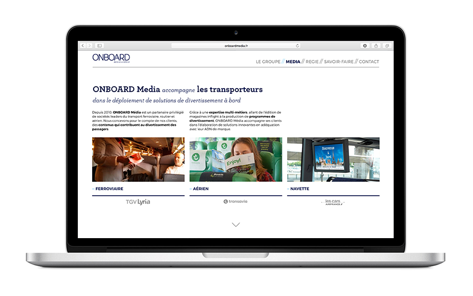 Page Onboard media