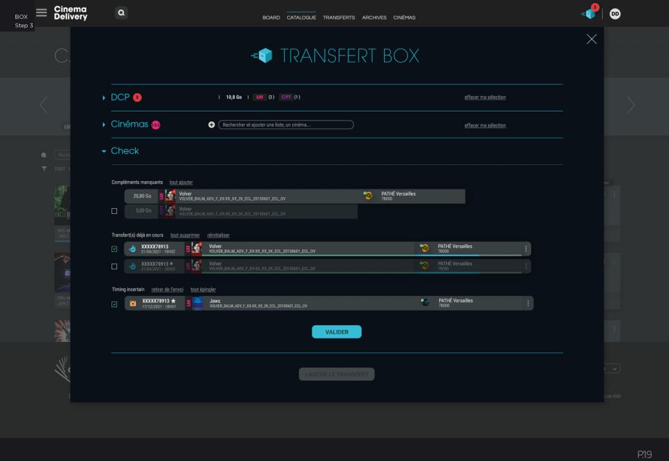 Transfert BOX