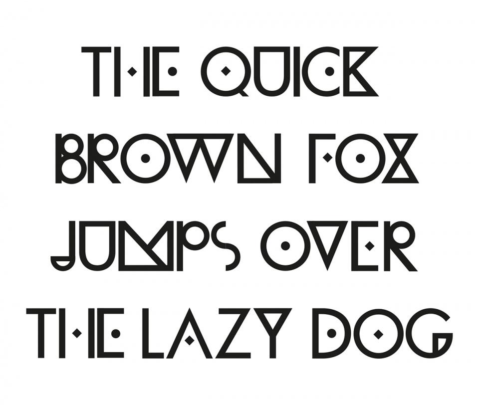 Typographie conçue pour l'identité du projet