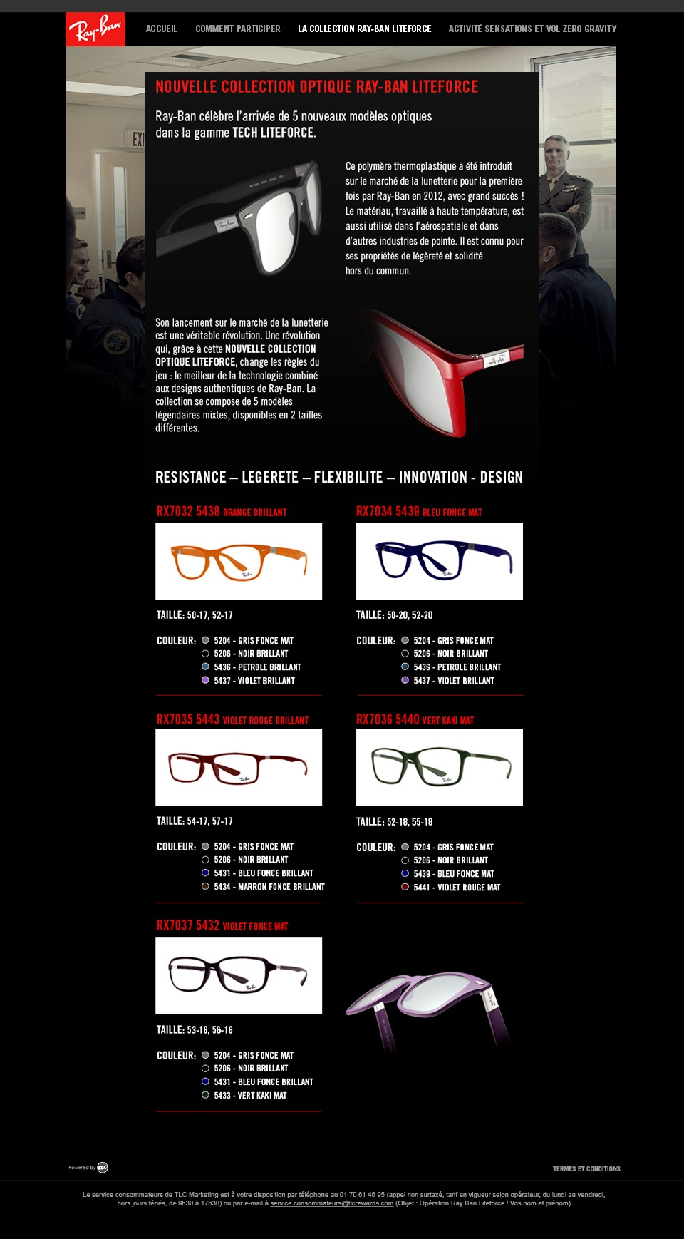 "Page ""la Collection Ray-Ban Liteforce"""