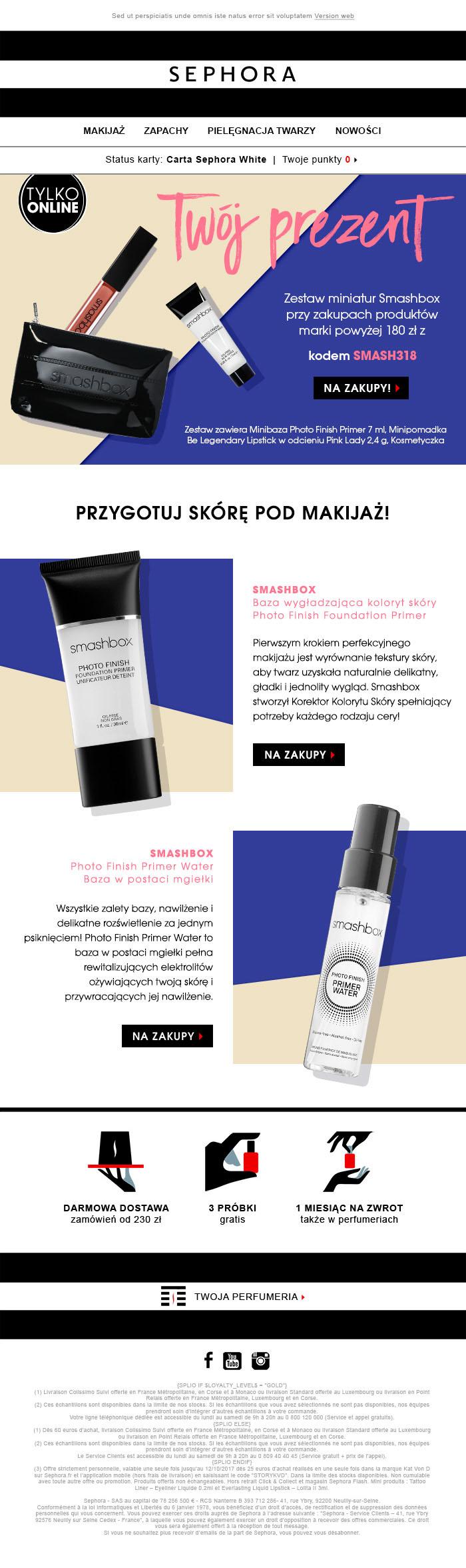 Newsletter pour le lancement de produits en Pologne