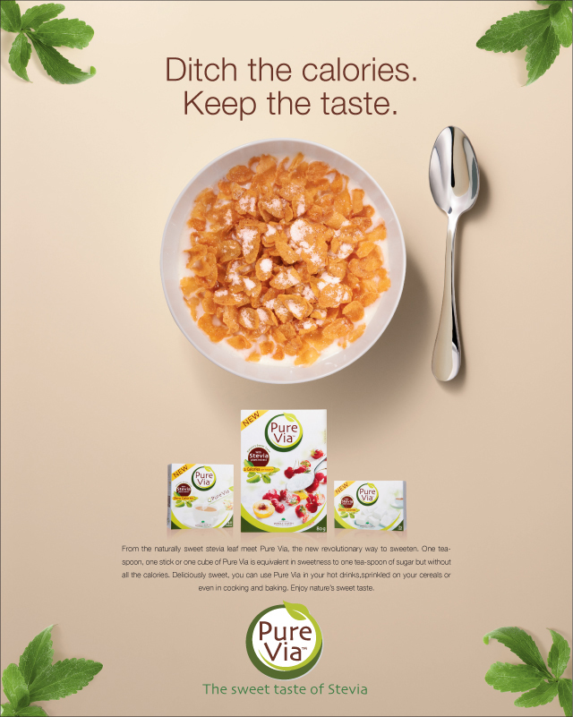 Campagne presse Pure Via UK