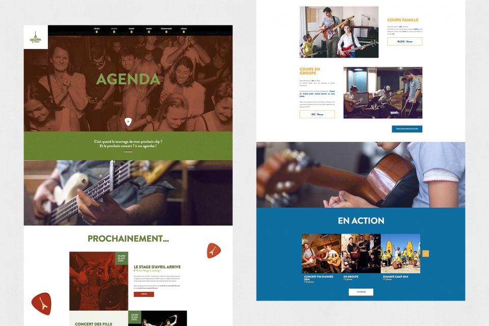 Pages Agenda et Cours