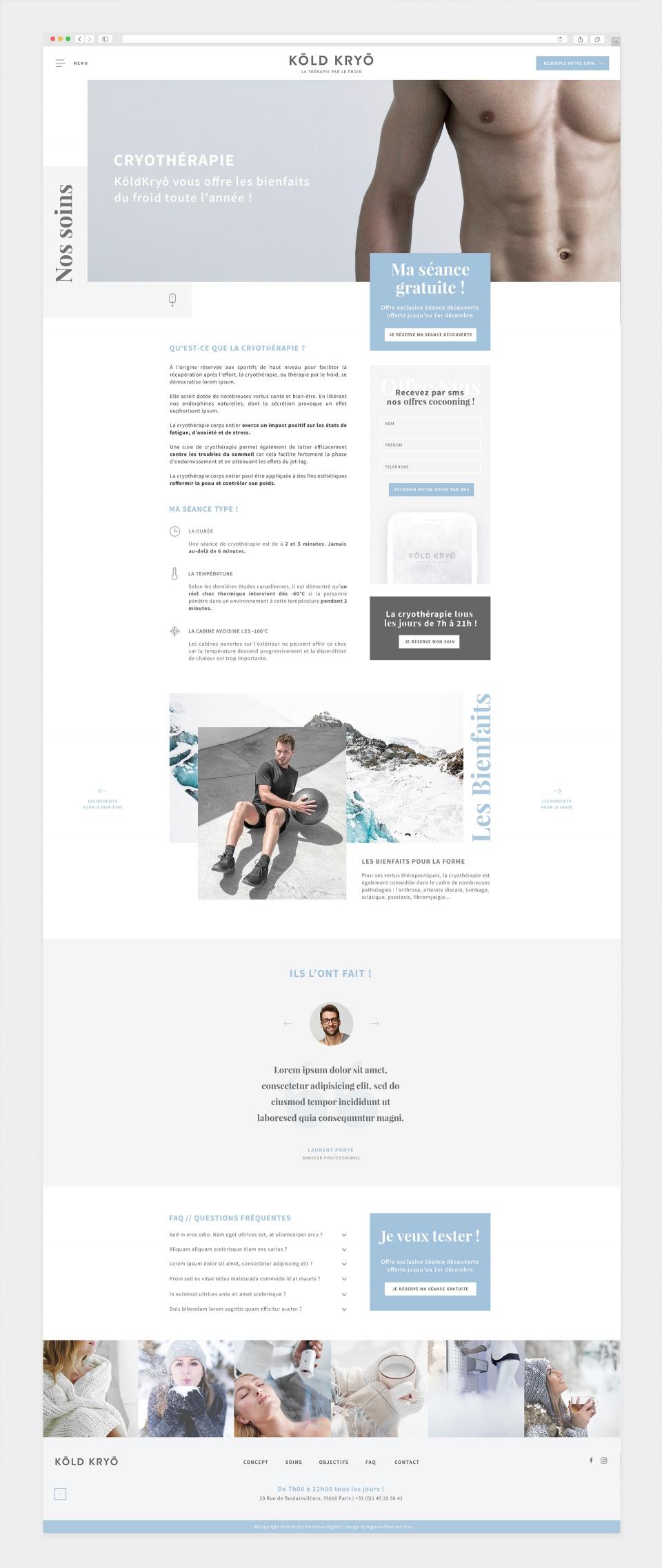 Site — Pages internes